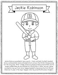 African American Coloring Page Crafts Posters Black History Jackie Robinson Coloring Page