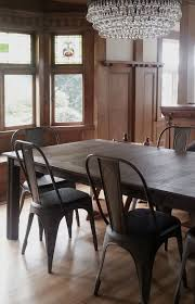 Craftsman Dining Table by Phinney Ridge Craftsman Dining Room Wood Paneling Chandelier