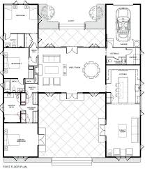 u shaped ranch house plans t shaped house floor plans ranch awesome l shaped modern weird