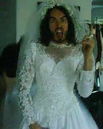 katy perry wedding dress brand dresses up in wedding gown as he prepares to