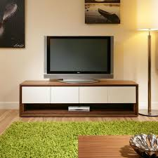 large television stand cabinet unit walnut off white 104
