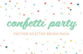 party confetti confetti party scatter brushes brushes creative market