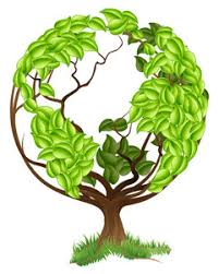 plant trees concept with green tree in a globe royalty free stock