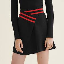 tweed skirt jispe asymmetric tweed skirt skirts shorts maje