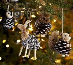Christmas Tree Decorations Using Pine Cones