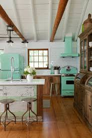 Rustic Cottage Kitchens - 28 inspiring colorful kitchen appliances digsdigs