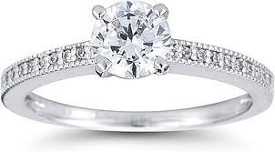 milgrain engagement ring pave engagement ring w milgrain us3024