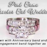 pink camo wedding rings pink camo wedding rings for camo anniversary ring asscher