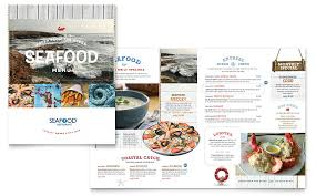 menu publisher template seafood restaurant menu template word publisher