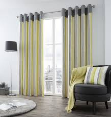 Grey And Green Curtains Vertical Stripe Green Grey Lined Ring Top Curtains 8 Sizes