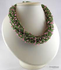 crochet beading necklace images Necklace beads boho style knitting beaded gift crochet jewelry eco jpg