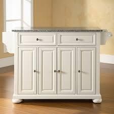 crosley alexandria solid granite top kitchen island ebay