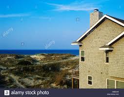 beach house outer banks corolla north carolina stock photo
