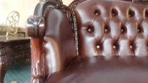 Classic Leather Sofa by Classic Leather Sofa With Carving Youtube
