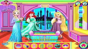 disney frozen princess elsa anna rapunzel and ariel baby room