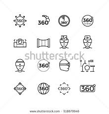 360 degrees angle view rotate vector stock vector 492421321