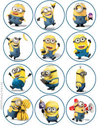 minions cake toppers minions topper for cupcakes pinteres