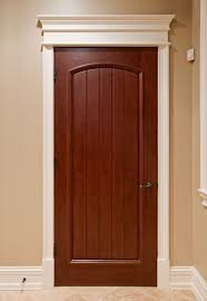 Interior Door Wood Interior Door Custom Single Solid Wood With Medium Mahogany