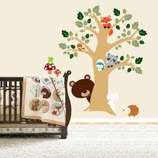 Animal Wall Decals For Nursery Animals Wall Decals Forest Friends Room Peek A Boo Tree Woodland