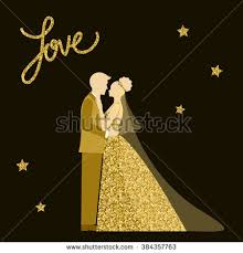groom and groom wedding card wedding card groom sparkle glitter stock vector 384357763