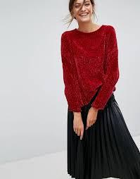 chenille sweater stradivarius stradivarius neck chenille sweater