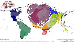 World Map According To America by Swiss Leaks A World Of Secret Money And Bank Accounts Views Of