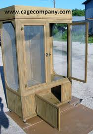 turning an old curio cabinet into a custom reptile enclosure to