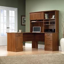 Computer Hutch Desk With Doors Outstanding Corner Desks Wit Hutch Solid Wood Construction Medium