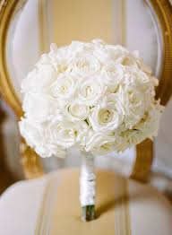 White Rose Bouquet Photographer Megan Clouse Photography All White Rose Wedding