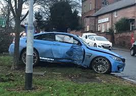 bmw crashes into tree in darlington town centre the northern echo