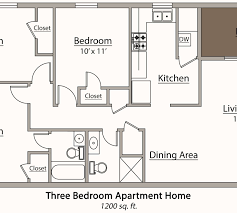 3 bedroom 2 bath floor plans mesmerizing 3 bedroom 2 bath apartment floor plans pictures