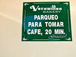 miami nice versailles bakery parqueo para tomar cafe only in