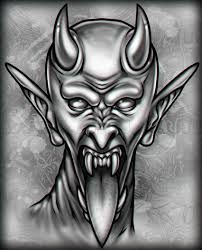dark silver ink amazing satan scary head tattoo golfian com