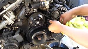bmw 325i alternator 01 05 bmw serpentine and ac belt removal 530 525i 330 325