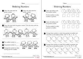 ordering numbers 11 to 20 worksheets set 2