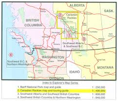 Northern Canada Map by Canadian Rockies Banff Jasper Yoho Gem Trek Map Stanfords