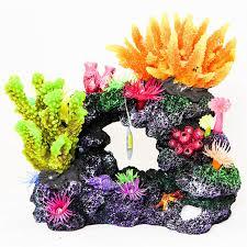 realistic aquarium ornament fish tank decoration tropical marine