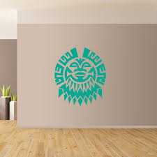 20 best ideas polynesian wall art wall art ideas polynesian flower wall art giant sticker mural graphic french with regard to polynesian wall art