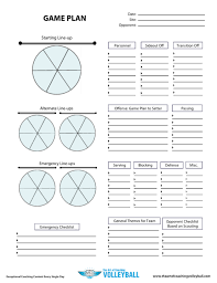 game plan worksheet