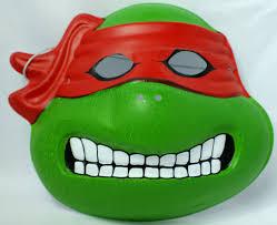 vintage raphael teenage mutant ninja turtles halloween mask mirage