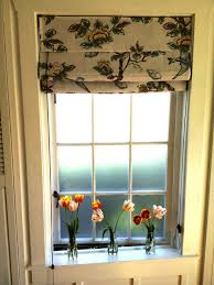 rectangle frozen glass window with white bars plus cream floral