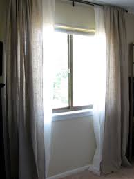 bedroom appealing design ideas of window curtain with cream