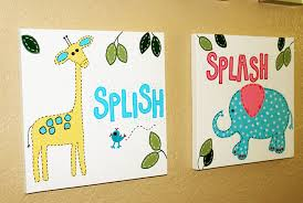 Wall Art Ideas For Bathroom 222 Kids Bathroom Wall Art Kids Bathroom Decor Kids Bathroom