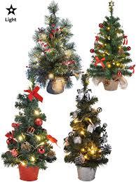 Pre Lit Mini Christmas Tree - mini pre lit christmas tree 75cm 60cm 45cm 2ft decoration led