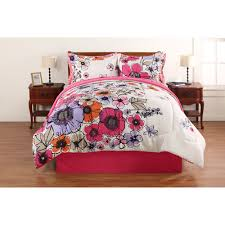 Walmart Girls Bedding Hometrends Watercolor Floral Bed In A Bag Bedding Set 39 98 At