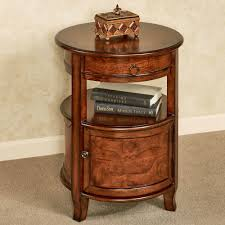 Wood Accent Table Mabella Round Accent Table With Storage