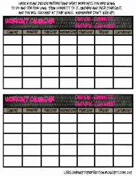 exercise calendar template free 28 images blank workout