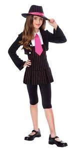 Mob Costumes Halloween Gangsta Gangster Moll Mob Black Pink Dress Halloween Teen