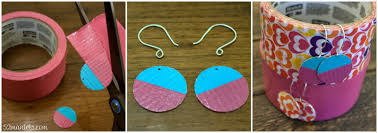 duct earrings 52 mantels diy colorblock jewelry using scotch colors and