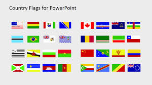 Flag Placement Country Flags Clipart For Powerpoint B To C Slidemodel